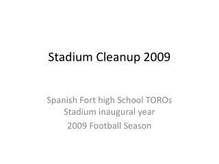 Stadium Cleanup 2009