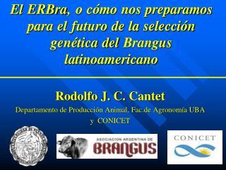 Rodolfo J. C.  Cantet Departamento de Producción Animal, Fac.de Agronomía UBA y  CONICET