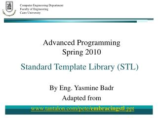 Advanced Programming Spring 2010