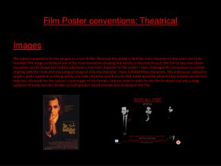 Film Poster conventions: Theatrical