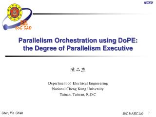 Parallelism Orchestration using  DoPE : the Degree of Parallelism Executive