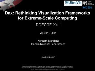 Dax : Rethinking  Visualization Frameworks for Extreme-Scale Computing