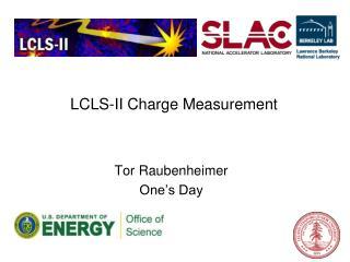 LCLS-II Charge Measurement