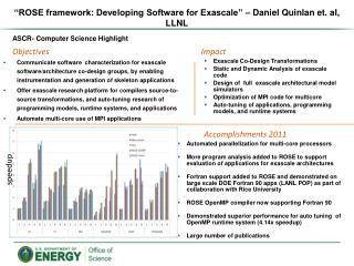 """ROSE framework: Developing Software for Exascale"" – Daniel Quinlan et. al, LLNL"