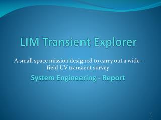 LIM Transient Explorer