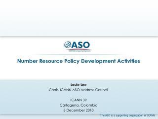 Number Resource Policy Development Activities