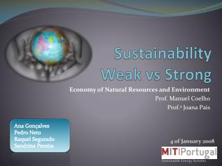 Sustainability  Weak  vs  Strong