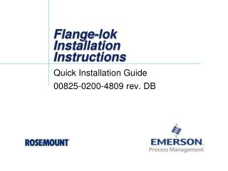 Flange- lok  Installation Instructions