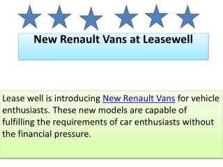 New Renault Vans at Leasewell