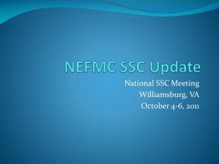 NEFMC SSC Update