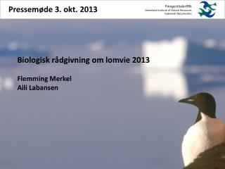 Pinngortitaleriffik Greenland  Institute  of  Natural  Resources Grønlands Naturinstitut