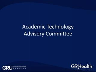 Academic  Technology  Advisory Committee