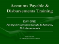 Accounts Payable  Disbursements Training