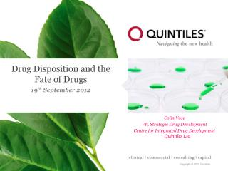Drug Disposition and the Fate of Drugs