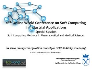 16 th Online World Conference on Soft Computing in Industrial  Applications Special  Session