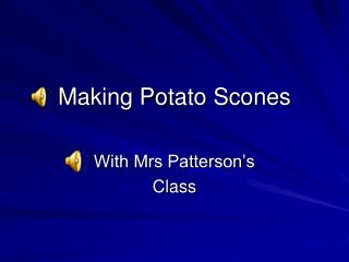 Making Potato Scones