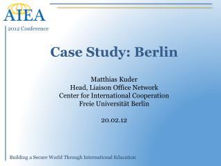 Case Study: Berlin
