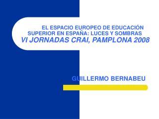 EL ESPACIO EUROPEO DE EDUCACI