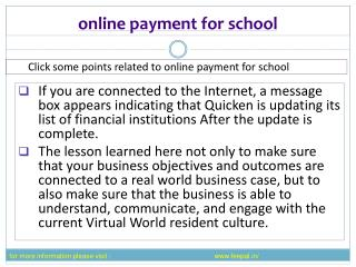 The best  portal of online payment fo school