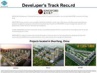 Developer's Track Record