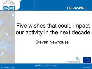 Five wishes that could impact our activity in the next decade
