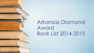 Arkansas Diamond Award Book List 2014-2015