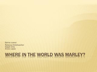 Where In The World Was Marley?