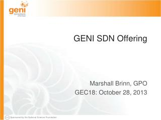 GENI SDN Offering
