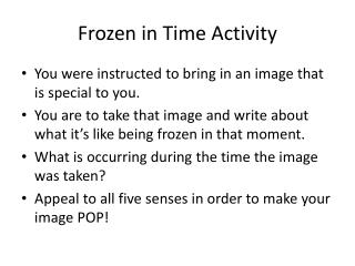 Frozen in Time Activity