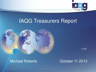 IAQG Treasurers Report