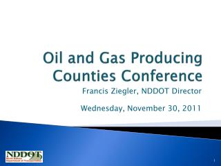 Oil and Gas Producing Counties Conference