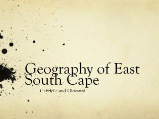 Geography of East South Cape