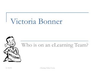 Who is On An eLearning Team