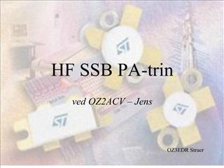 HF SSB PA-trin