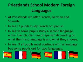 Priestlands  School Modern Foreign Languages