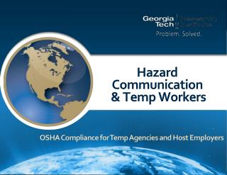 Hazard  Communication  & Temp Workers