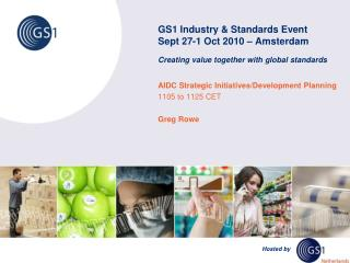 AIDC Strategic Initiatives/Development Planning 1105 to 1125 CET Greg Rowe