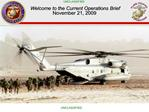 PPO Current Operations Brief - National Marine Corps Council
