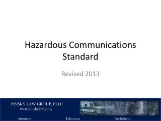 Hazardous Communications Standard