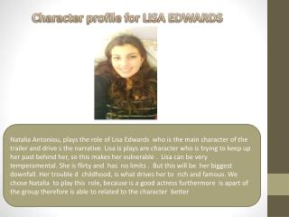 Character profile for LISA EDWARDS
