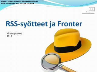 RSS-syötteet  ja  Fronter