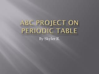 ABC Project on periodic table