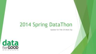 2014 Spring  DataThon
