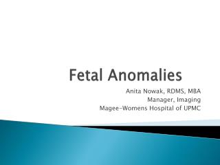 Fetal Anomalies