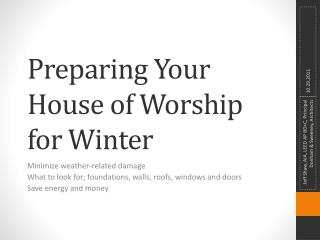 Preparing Your House of Worship for Winter