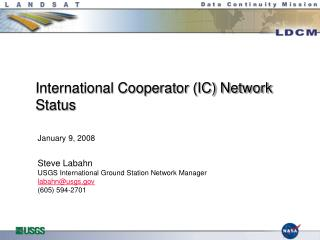 International Cooperator IC Network Status