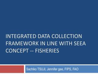 integrated data collection   framework in line with SEEA concept -- fisheries