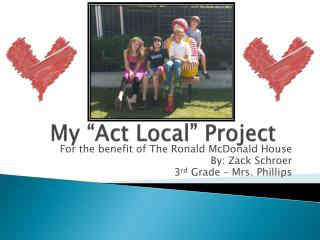 """My """"Act Local"""" Project"""