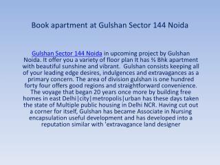 Gulshan Sector 144 Noida