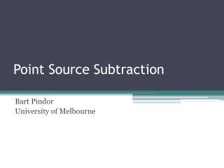 Point Source Subtraction
